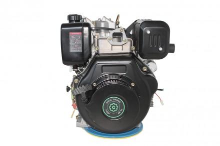 Двигатель дизельный GrunWelt GW192FE (14 л.с., шпонка) GrunWelt GW192FE - дизель. Киев, Киевская область. фото 11