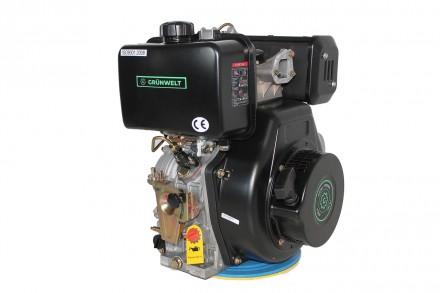 Двигатель дизельный GrunWelt GW192FE (14 л.с., шпонка) GrunWelt GW192FE - дизель. Киев, Киевская область. фото 5