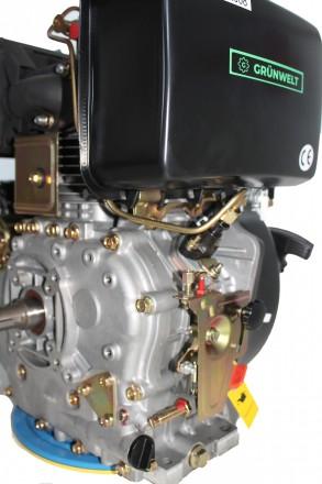 Двигатель дизельный GrunWelt GW192FE (14 л.с., шпонка) GrunWelt GW192FE - дизель. Киев, Киевская область. фото 9