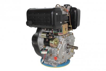 Двигатель дизельный GrunWelt GW192FE (14 л.с., шпонка) GrunWelt GW192FE - дизель. Киев, Киевская область. фото 6