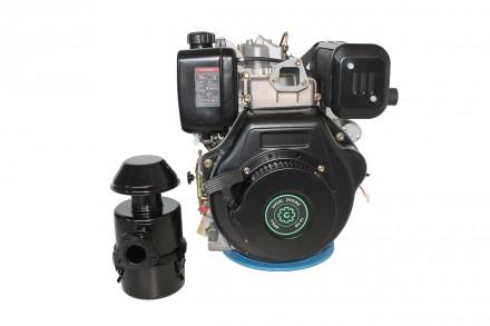 Двигатель дизельный GrunWelt GW192FE (14 л.с., шпонка) GrunWelt GW192FE - дизель. Киев, Киевская область. фото 4