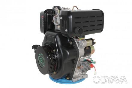 Двигатель дизельный GrunWelt GW192FE (14 л.с., шпонка) GrunWelt GW192FE - дизель. Киев, Киевская область. фото 1
