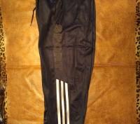 Штаны спортивные эластиковые, темно-синего цвета с тонкой байковой подкладкой, е. Полтава, Полтавская область. фото 3