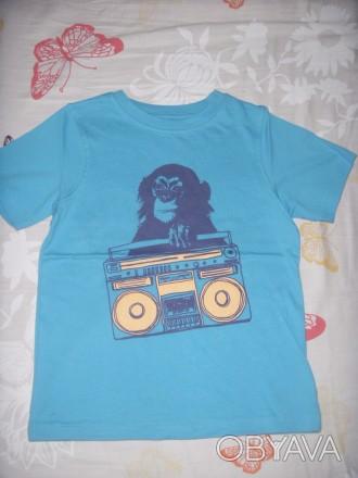 Новая, стильная футболка Mothercare.На возраст 4-5 года.На рост 110 см. 100% хло. Киев, Киевская область. фото 1