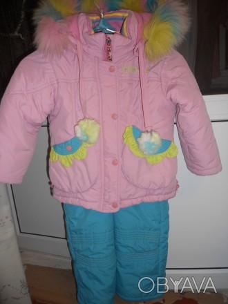 Комбинезон рассчитан на рост 104-110см.  Длина курточки 45см,длина рукава от пл. Запоріжжя, Запорізька область. фото 1