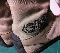Ботиночки песочного цвета, по стельке 16 см, украшены камушками. Кожа+замша, сте. Харьков, Харьковская область. фото 6