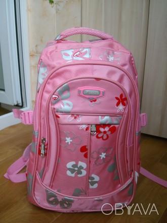 продам новый рюкзак, портфель  для девочки, размер длина 45см, ширина 30см, высо. Черкассы, Черкасская область. фото 1