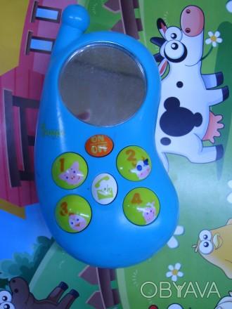 Продам интерактивный детский телефон ФЕРМА-ФОН Телефончик достаточно крупный и . Черкаси, Черкаська область. фото 1