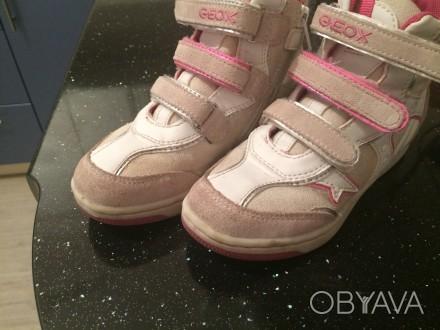 Ботинки на девочку Geox,в хорошем состоянии,носили пару месяцев. Киев, Киевская область. фото 1