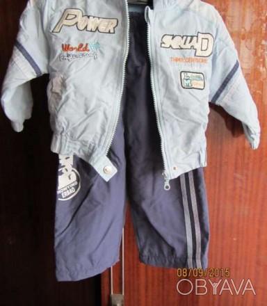 костюм на флисе,куртка голубая,штаны синие.состояние нормальное.примерно на 1 го. Нежин, Черниговская область. фото 1