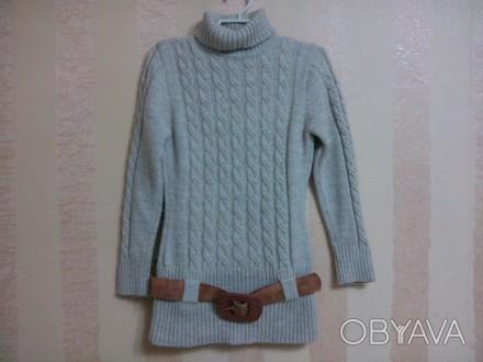 свитер -туника очень мягкий, машинной вязки, удобен и красив на девочке, ниже по. Енергодар, Запорізька область. фото 1