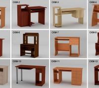 Столы компьютерные для дома и офиса - Различная цветовая гамма. По оптовым ценам. Киев. фото 1