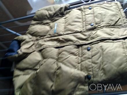 Куртка на осень-зима,  цвета хаки ( рукава отстегиваются показано на фото) , в о. Киев, Киевская область. фото 1