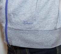 спортивная кофта серого цвета, на молнии, с капюшоном, внутри него разноцветные . Енергодар, Запорізька область. фото 4