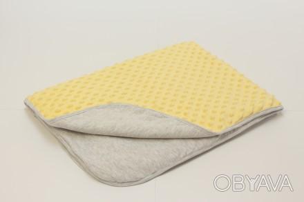 Жовта тепла ковдрочка CooCoo для малюків. Має три шари: фліс, тонкий утеплювач, . Киев, Киевская область. фото 1