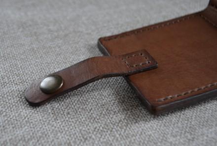 Кожаный кошелек/зажим для купюр из натуральной кожи - юфть шорно-седельная рыжег. Кролевец, Сумская область. фото 8