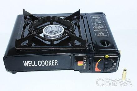 Портативная газовая плита WELL COOKER двойного действия с чемоданом