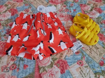 Продам детские пляжные шорты Next, размер 9-12 мес. (74-80 см). Чернігів. фото 1