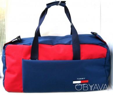 39d874df583b Спортивная, дорожная сумка Tommy Hilfiger унисекс 51см красно синяя