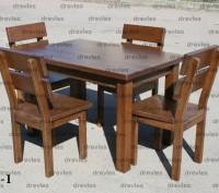 Комплект мебели для дома, кафе, сада из натурального дерева / Сс-1. Чернигов. фото 1