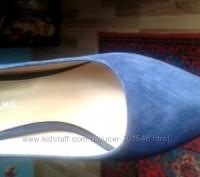Туфельки из натурального замша,небольшой каблук,супер колодка,удобнейшие,цвет оч. Каменец-Подольский, Хмельницкая область. фото 5