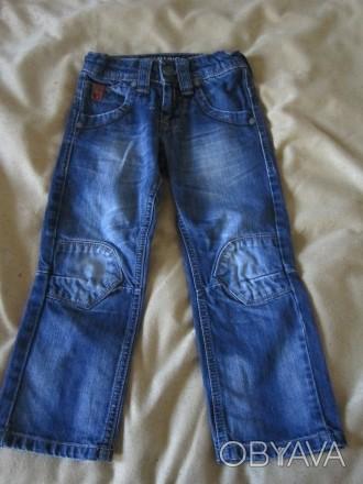 Темно-синие джинсы длинна от пояса 60 см,написан на рост 98, покупали в дорогом . Харьков, Харьковская область. фото 1