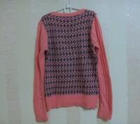 свитер вязаный на девочку абрикосового цвета, впереди и сзади по спинке -рисунок. Энергодар, Запорожская область. фото 3