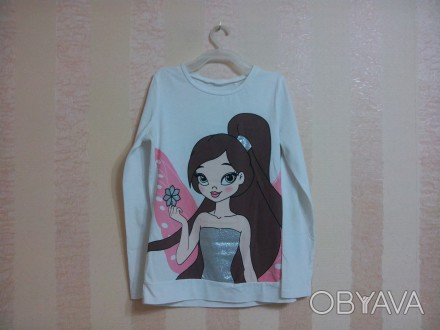 футболка на девочку от 9 до 12 лет, куплена в Болгарии,фирма Waikiki, тонкая, уд. Енергодар, Запорізька область. фото 1