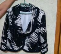 пиджак нарядный женский 48 размер, одевался на выход. Энергодар. фото 1
