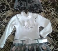 Продам новый костюм: платье и жилет на девочку модницу возрастом 2-3 года (рост . Сєверодонецьк, Луганська область. фото 2