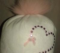 Продам очень красивую и тёплую фирменную зимнюю шапку на девочку 2-3 года. Бубон. Северодонецк, Луганская область. фото 2