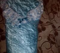 Конверт на выписку для мальчика.Отличное состояние,цвет голубой.Ткань атлас,заст. Черкаси, Черкаська область. фото 3