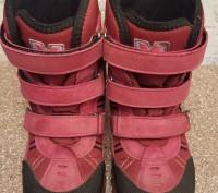 Теплые термо ботинки, розовые, размер 30, носки целые, не сбитые. Мелитополь, Запорожская область. фото 3