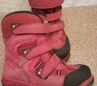 Теплые термо ботинки, розовые, размер 30, носки целые, не сбитые. Мелитополь, Запорожская область. фото 5