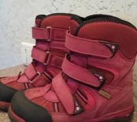 Теплые термо ботинки, розовые, размер 30, носки целые, не сбитые. Мелитополь, Запорожская область. фото 4