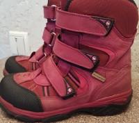 Теплые термо ботинки, розовые, размер 30, носки целые, не сбитые. Мелитополь, Запорожская область. фото 6