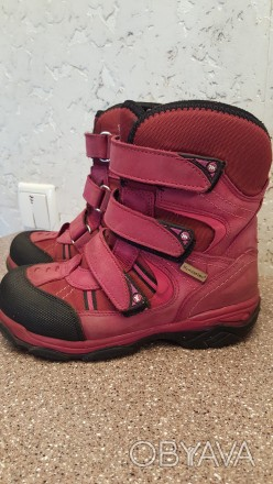 Теплые термо ботинки, розовые, размер 30, носки целые, не сбитые. Мелитополь, Запорожская область. фото 1