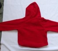 Новая флисовая кофта в сердечки с капюшоном, красного цвета,без бирки, флис не т. Киев, Киевская область. фото 5