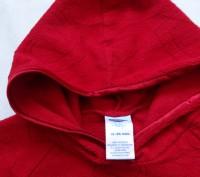 Новая флисовая кофта в сердечки с капюшоном, красного цвета,без бирки, флис не т. Київ, Київська область. фото 4