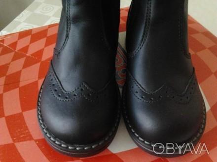 НОВЫЕ Сапоги(оксфорды) кожаные , красивый,модный дизайн, весна-осень чёрного цве. Черкассы, Черкасская область. фото 1