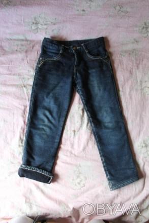 Теплые джинсы на флисовой подкладке на мальчика,на рост 116 см.Длина штанины по . Киев, Киевская область. фото 1