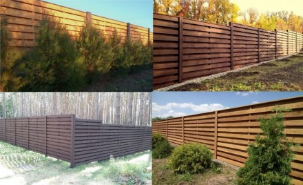 Строительство заборов из дерева, изготовление и установка ворот. Харьков. фото 1