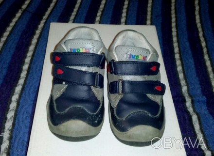 Ботинки кроссовки детские lupilu кожаные б/у в отличном состоянии