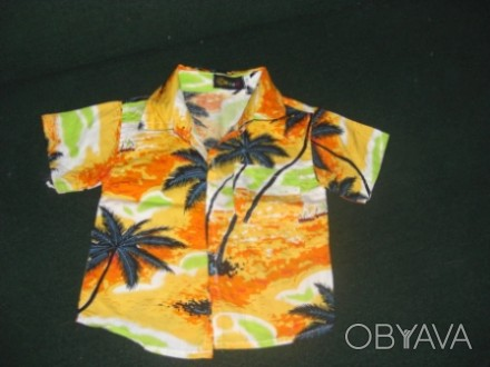 Рубашка летняя для мальчика 2 лет. Майка- в подарок!