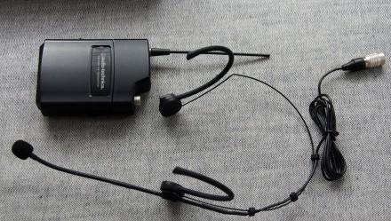 Радіосистема Audio-Technica 2000 series з наголовним мікрофоном. Привезена з США. Львов, Львовская область. фото 4