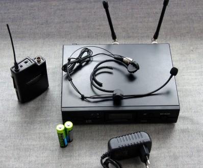 Радіосистема Audio-Technica 2000 series з наголовним мікрофоном. Привезена з США. Львов, Львовская область. фото 3