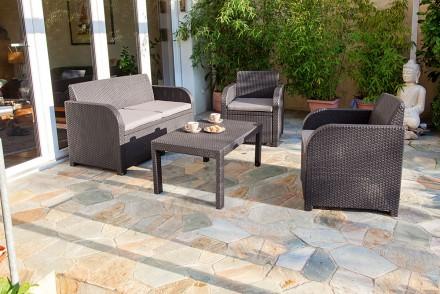 Садовая уличная мебель Allibert Carolina Lounge Set. Ужгород. фото 1