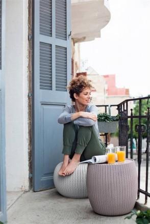 """"""" Садовая уличная мебель Keter Urban Knit Set ( Cozy Set ) """"  Сочетание элеган. Ужгород, Закарпатская область. фото 4"""