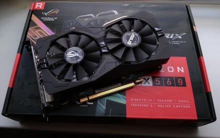 Відеокарта Asus Radeon RX 560 4Gb OC (не врізана!). Запорожье. фото 1