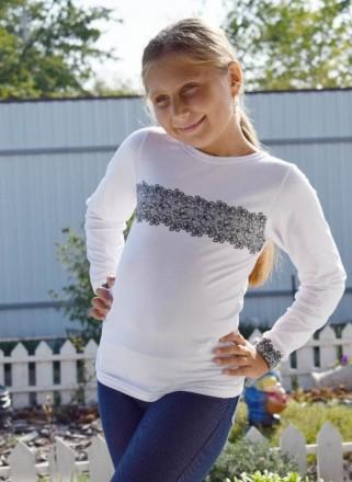 Джемпер для девочки с накатом  Комфортный джемпер из однотонной фуликры с нежн. Горишные Плавни, Полтавская область. фото 3